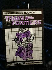 Transformers Decepticon Skullcruncher Instructions