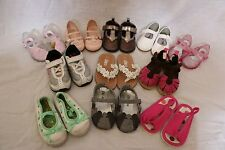 10+ Pair of Baby Girl's Shoes - Size 4-5 - Flip-Flops, Sneakers, Mary Janes etc.