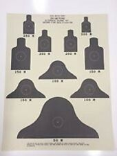 LOT of 10 M16 M4 AR15 Fire Qualification 25M Paper Targets, ALT  Course C Target