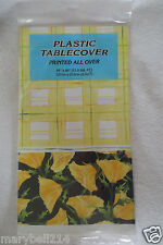 """Flower Spring Plastic Table cover Birthday  Party 54"""" x 84"""" Easter Mother Day"""