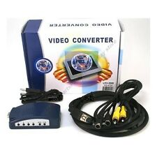 VGA/SVGA PC/MAC Computer~TV/RCA/SVHS/VCR/LCD/LED/Plasma/HDTV Converter $SH DISC