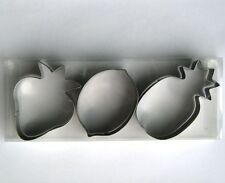 Fruits Pineapple Strawberry Lemon Fondant Baking Biscuit Cookie Cutter Mold set