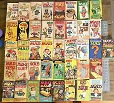 VINTAGE LOT OF 41 MAD MAGAZINE PAPERBACKS. 1960-1975 Dates.  GREAT.