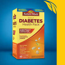 Nature Made Daily DIABETIC Health Pack 60 Packets, Exp 02/ 2021
