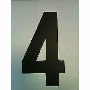 """9"""" Standard Style Race Number No.4 in Black Sold Each"""