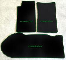 Autoteppich Kofferraummatte Set für Mazda MX 5 NA schwarz grün 3teilig Neuware