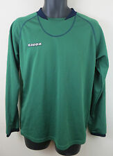 Mens Kappa Football Shirt Soccer Jersey Green Voetbalshirt Skjorte L Large