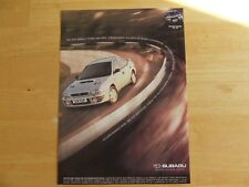 SUBARU IMPREZA TURBO 2000 AWD ADVERT POSTER READY TO FRAME C
