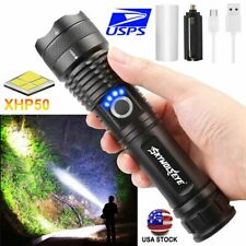 XHP P50 MOST POWERFUL FLASHLIGHT USB Zoom TORCH 26650 Camping 5 Modes Lamp Light