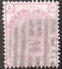 Gb Qv 1873 Sg143 3d.rose H-A Plate11 used stamp (No2077)*