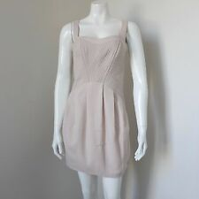 NWT ASOS Beige Sleeveless Mini Occasion Dress Cut Out Back Size AU/UK 10 PX