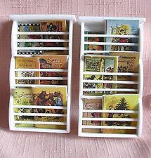 2 miniature mural porte-revues et livres blancs 12th maison de poupées
