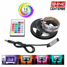 1/2M RGB LED Light Strip Bar TV Room Background Computer Decor USB Remote Contro