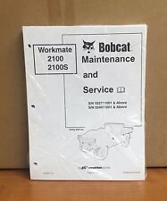 Bobcat 2100 2100S Utility Vehicle Service Manual Shop Repair Book # 6901987
