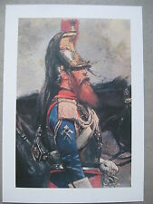 affiche reproduction de tableau d'un cuirassier second empire