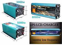 Inverter 3000W 5000W 8000W 10000W LF Inversor De Onda Pura Del Seno LCD+Cargador