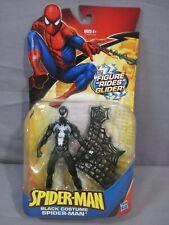 "Marvel BLACK COSTUME SPIDER-MAN w/ WEB GLIDER 6"" Action Figure 2009 Hasbro"