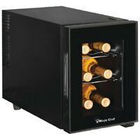 Magic Chef 6-Bottle Thermoelectric Wine Cooler in Black - MCWC6B