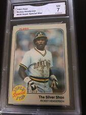 1983 Fleer Rickey Henderson Super Special Star Card GMA Graded NM