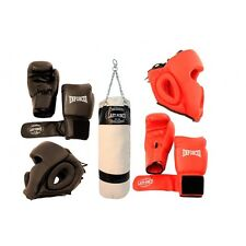 *2 Person Sparring Set* Boxing package of 2 Gloves 2 Headgear & 1 Punching Bag
