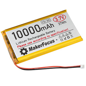 Lithium Ion Polymer 3.7v Rechargeable Battery 10000mAh Project Arduino