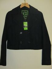 C. Wonder Blue Wool Cropped Military Jacket Sz XXS NWT $178