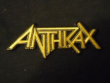 ANTHRAX - LOGO - EMBROIDERED  PATCH IRON OR SEW PATCH