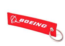 BOEING / FLIGHT CREW - Schlüsselanhänger - ROT / WEISS - REMOVE BEFORE FLIGHT ®