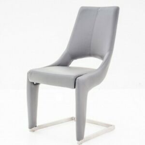 Ardea Grey bonded Leather designer dinning chair RRP £199