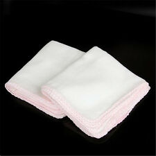 Pack of 10X Cotton Facial Face Cleansing Muslin Cloth Clean Dirt Removal New AUU