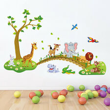Jungle Safari Animals Zoo Removable Kids Wall Sticker PVC Decal Nursery Decor