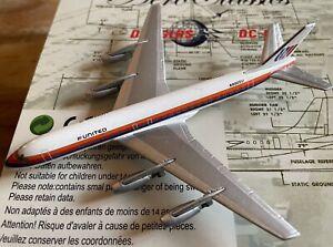 1:400 AeroClassics United Airlines McDonnell Douglas DC-8-21 N8005U Saul Bass