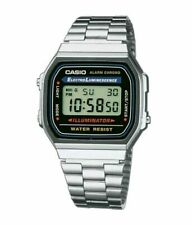 CASIO Retro Classic Digital Steel Bracelet Watch-A168WA-1YES Silver-5Yr Warranty