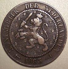1883 NETHERLANDS 2-1/2 CENT