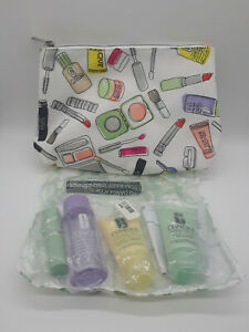 Clinique 6 PCS Travel Size Makeup Skincare Samples Gift Set with bag