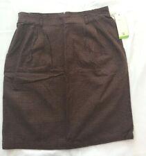 Hunt Club Brown Black Skirt Size 16 NEW