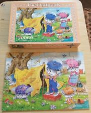 FLUFFY TAILS WOODEN JIGSAW 24 PIECE VINTAGE FALCON JIGSAW PUZZLE 1980'S