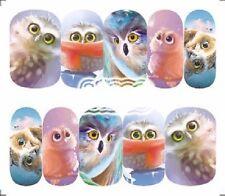 Nail Art de transferencia de agua Pegatina Adhesivos Decorativos Búho Chicas calcomanías (A-1283)