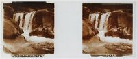 Cascade Del Pont Spagna Francia Foto Stereo PL52P3n4 Placca Da Lente Vintage