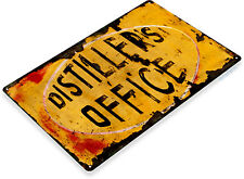 "TIN SIGN ""Distillers Office"" Whisky Metal Decor Wall Art Bar Pub A327"