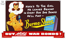 Vintage Antique Style Metal Sign Burma Shave Cut Out 23x14