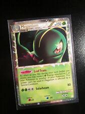 LP PRIME Pokemon MEGANIUM Card HGSS HeartGold&SoulSilver Set 109/123 Ultra Holo