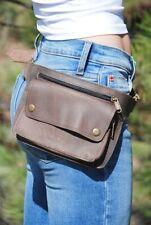 Brown Leather Waist Bag, Hip Bag for Women, Fanny Pack for Men, Festival Waist