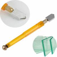 Diamond Tip Antislip Metal Handle Steel Blade Oil Feed Glass Cutter Tool U Nice