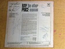 """VINYL LP COVER signed by RAY PRICE & (6) BAND MEMBERS / """"THE OTHER WOMAN"""""""