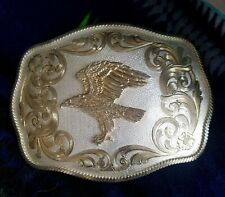 New ListingHuge Champion Trophy Rodeo Belt Buckle Eagle Montana Silversmiths