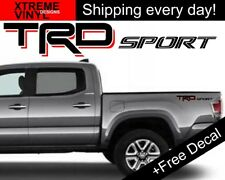 TRD SPORT Toyota Tacoma Tundra Truck Vinyl Bed Sides Decals 2012-2017