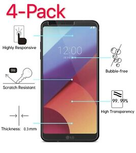 4-Pack Premium Tempered Glass Screen Protector Guard For LG G6 / LG G7 ThinQ