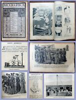 "1902 RR! Russian Antique Magazine ""Mosaic of the New World"" Fashion Humor Comics"
