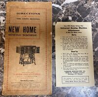 New Home Light Running Sewing Machine Instruction Manual Vintage Used